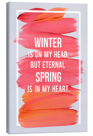 Tableau sur toile  Winter and Spring (anglais) - Typobox