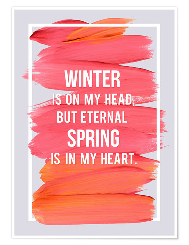 Poster Winter and Spring (anglais)