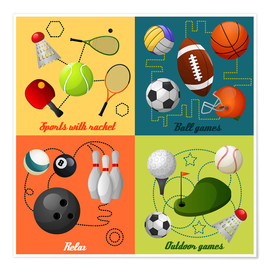 Poster  Fais du sport ! (anglais) - Kidz Collection