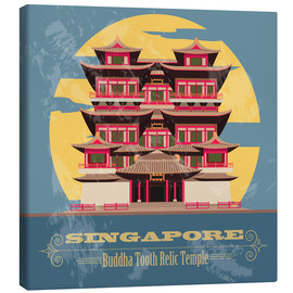 Tableau sur toile  Singapore - Buddha Tooth Relic Temple