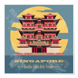 Poster  Singapore - Buddha Tooth Relic Temple