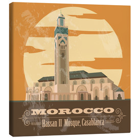 Tableau sur toile  Morocco - Hassan II Mosque