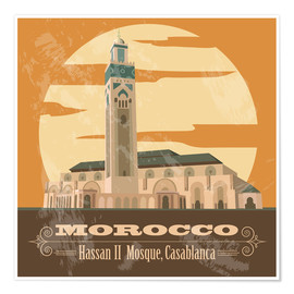 Poster  Morocco - Hassan II Mosque