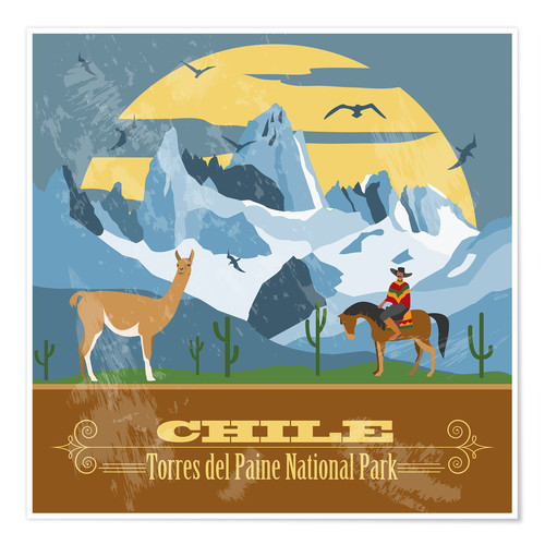 Poster Chile, Torres del Paine