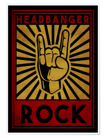 Poster  Headbanger Rock - Durro Art