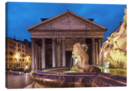 Tableau sur toile  Pantheon at twilight, Rome, Italy - Circumnavigation