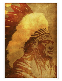 Poster Native American retro