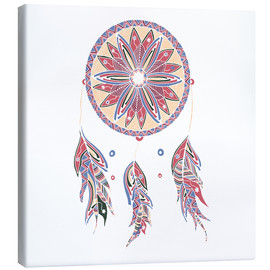Tableau sur toile  Dream Catcher red-blue