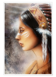 Poster  Native American Woman