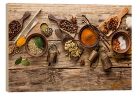 Bois  Spices and kitchen utensils