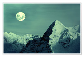 Poster  Full Moon on the Eiger - Gerhard Albicker