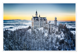 Poster  Neuschwanstein in the snow