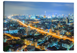 Tableau sur toile  Bangkok downtown Skyline at night