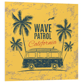 Tableau en PVC  Wave Patrol California