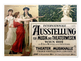 Poster International Exhibition of Music and Drama beings