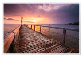 Poster Bodensee sunset