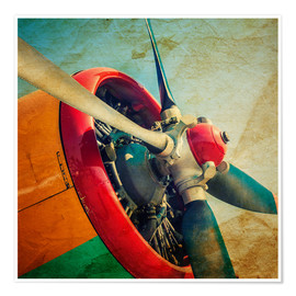 Rotor Blades of a military plane