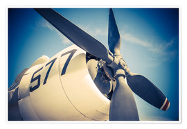 Propeller of a military plane