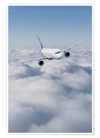 Poster  Airliner in flight