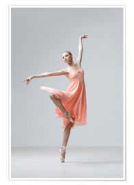 Poster  Ballerina in apricot