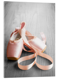 Verre acrylique  pink ballet shoes