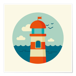 Poster  Phare dans un cercle - Kidz Collection