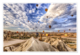 Poster  Balloon spectacle Cappadocia - Turkey - Achim Thomae