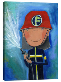 Toile  My little hero Fireman Julius - Atelier BuntePunkt