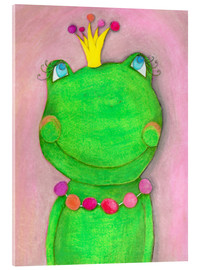 Verre acrylique  The Frog Queen and the colorful crown - Atelier BuntePunkt