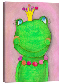 Toile  The Frog Queen and the colorful crown - Atelier BuntePunkt