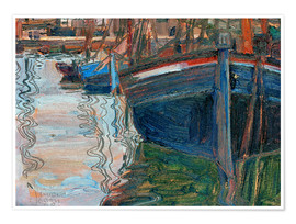 Poster  Boats reflected in the water - Egon Schiele