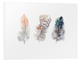 Tableau en PVC  3 plumes - Verbrugge Watercolor