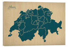 Bois  Switzerland Modern Map Artwork Design - Ingo Menhard