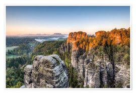 Poster  Saxon Switzerland in the morning - Michael Valjak