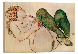 Bois  Nude with green stockings - Egon Schiele