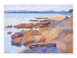 Poster  Coast near Antibes - Henri Edmond Cross