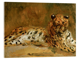 Verre acrylique  Reclining African Leopard - Max Slevogt