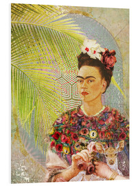 Moon Berry Prints - Frida Kahlo avec un faon