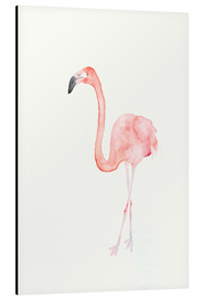 Tableau en aluminium  Flamant rose - Dearpumpernickel