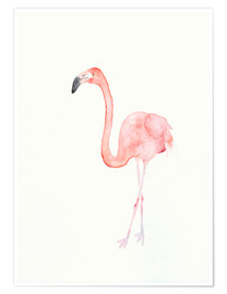 Poster  Flamant rose - Dearpumpernickel
