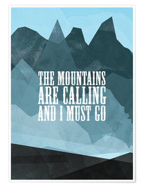 Poster  The mountains are calling - RNDMS