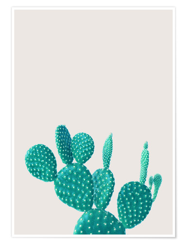 Poster Cactus turquoise