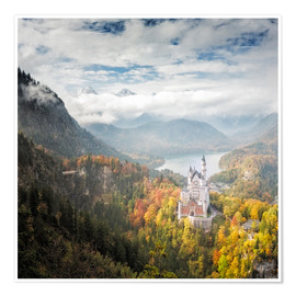 Poster  Neuschwanstein Castle at Autumn - Dieter Meyrl