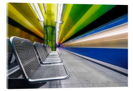 Verre acrylique  Candidplatz subway station in Munich - Dieter Meyrl