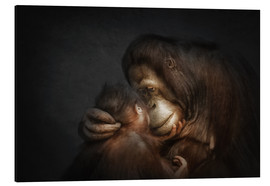 Tableau en aluminium  Time for Tenderness Bond of love - Manuela Kulpa