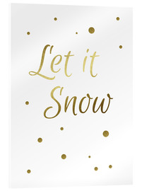 Verre acrylique  Let It Snow - Laissez-le neiger - Finlay and Noa