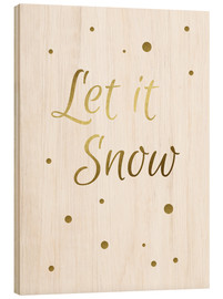 Tableau en bois  Let it Snow - Finlay and Noa