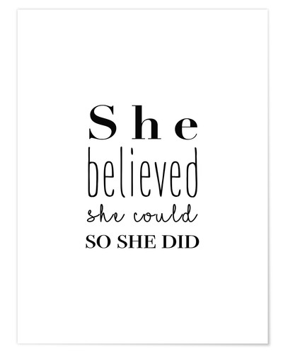 Poster She believed