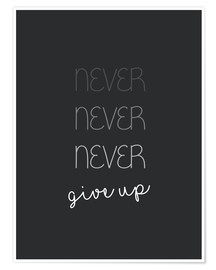 Poster  Never Give Up - n'abandonnez jamais - Finlay and Noa