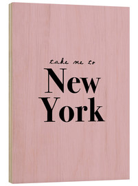 Tableau en bois  Take me to New York - Finlay and Noa
